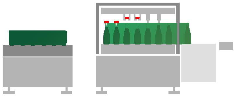 Impianto degorgement vino spumante